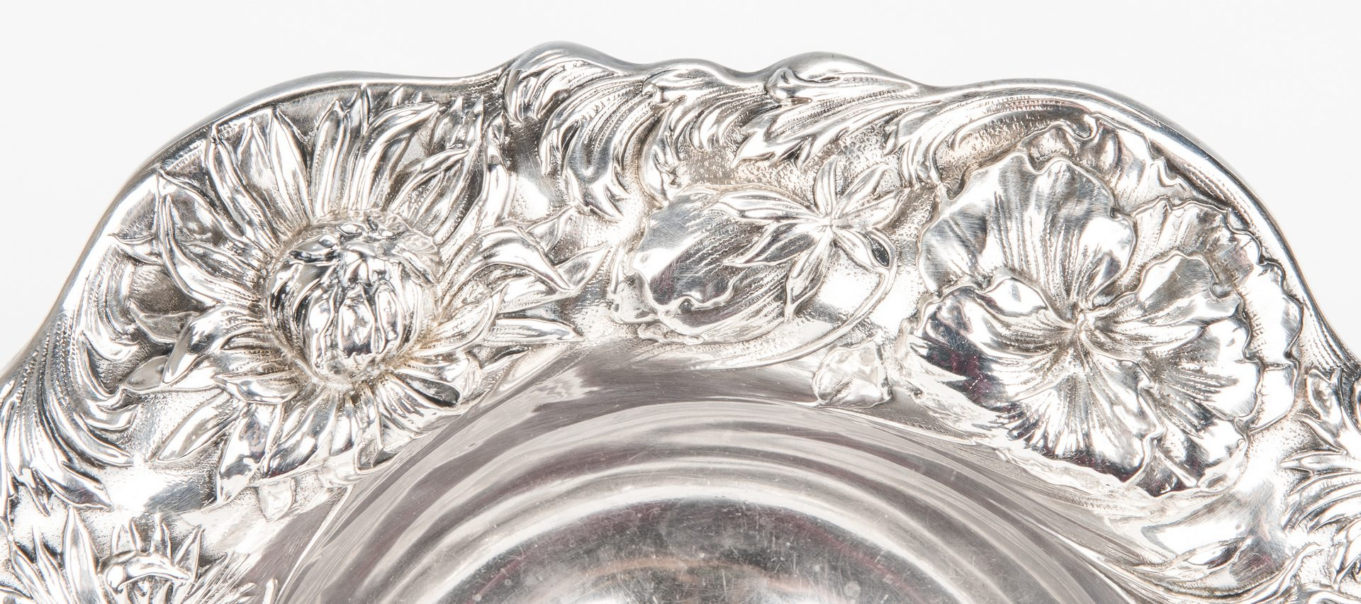 Lot 423: Dominick & Haff Art Nouveau Sterling Footed Bowl