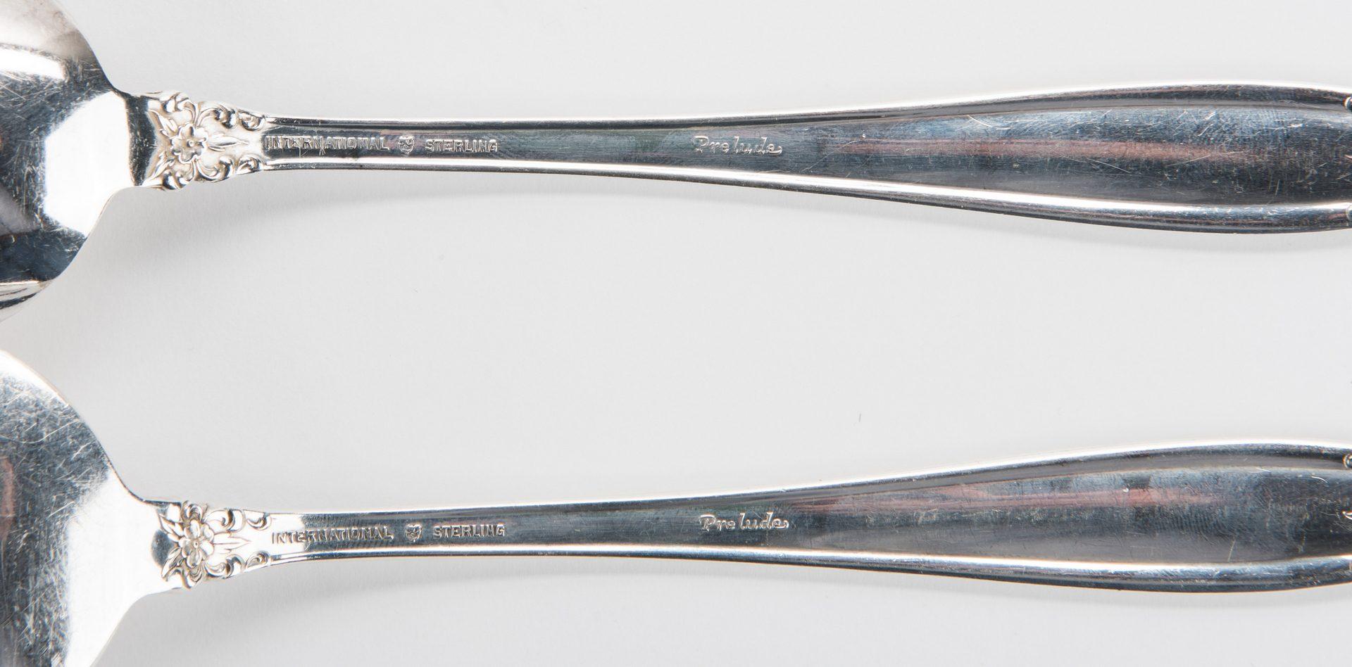 Lot 424:  International Sterling Flatware, Prelude Pattern, 87 pcs.