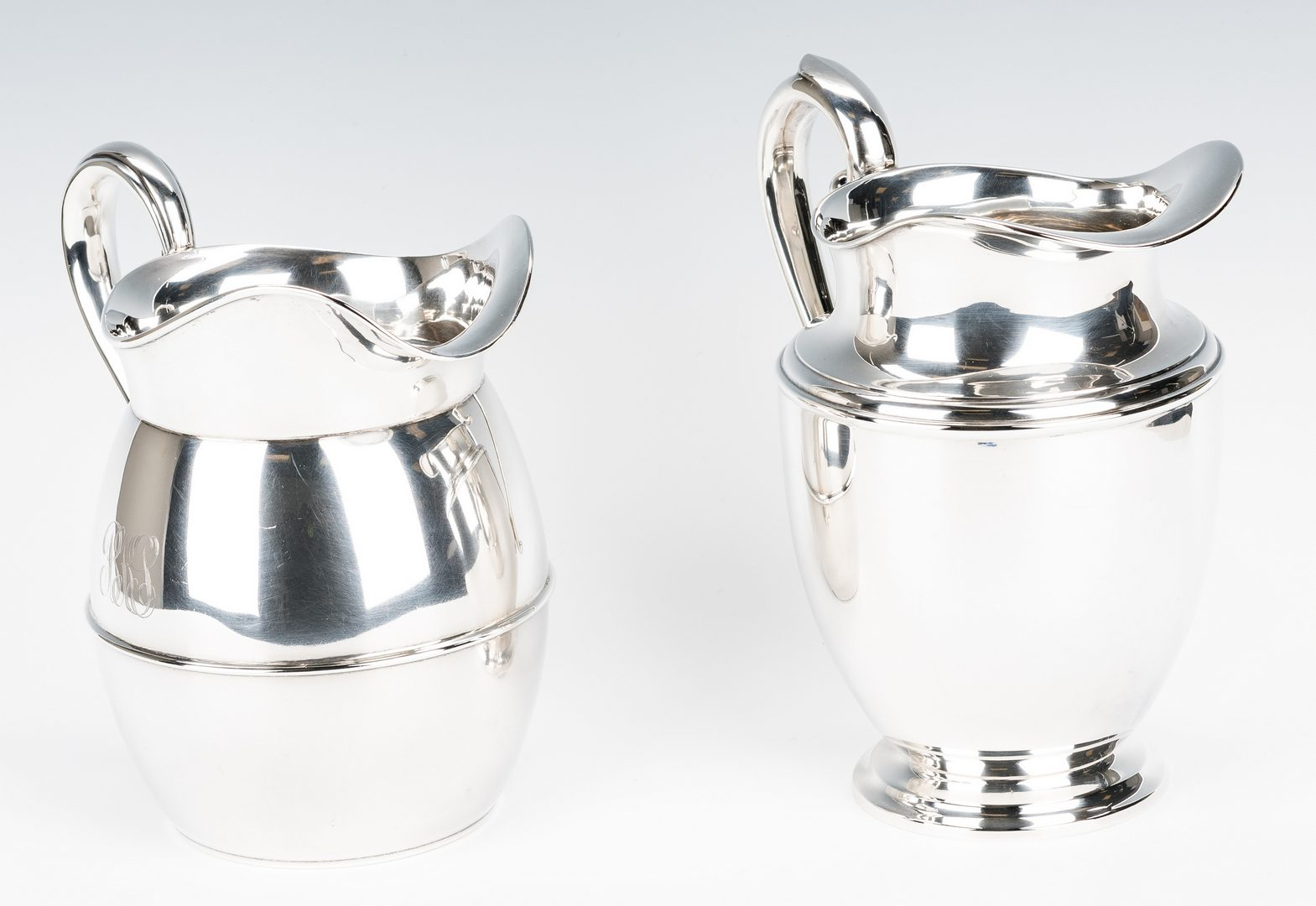 Lot 427: 2 Sterling Water PItchers