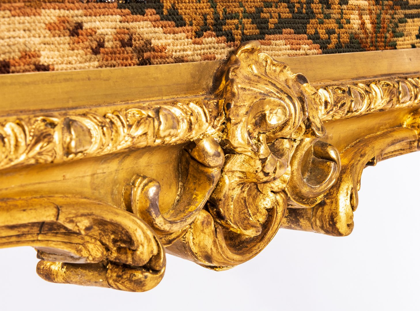 Lot 431: French Rococo Style Giltwood Tapestry Firescreen