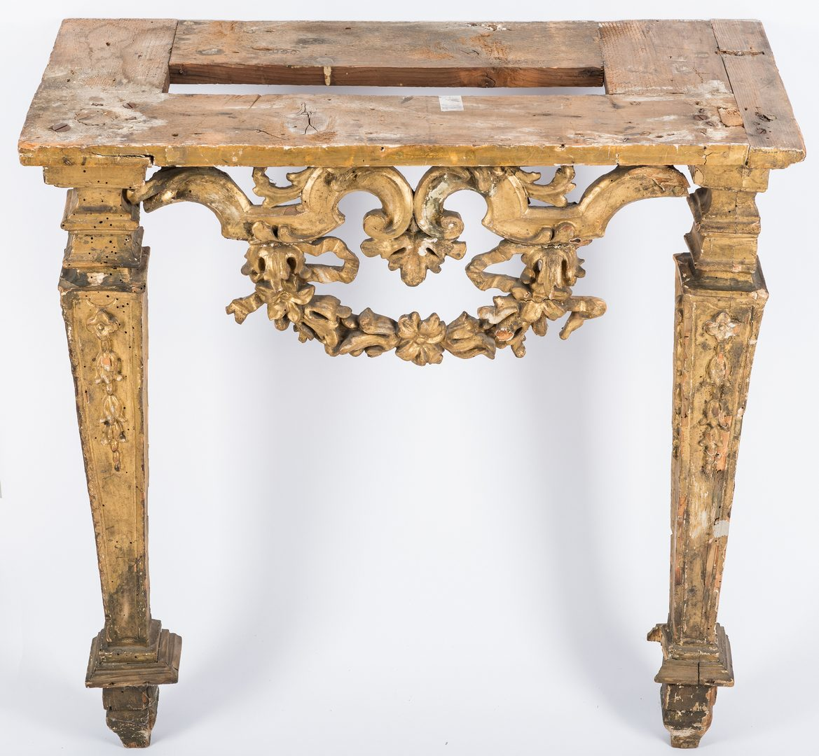 Lot 433: Carved Italian Giltwood Pier Table