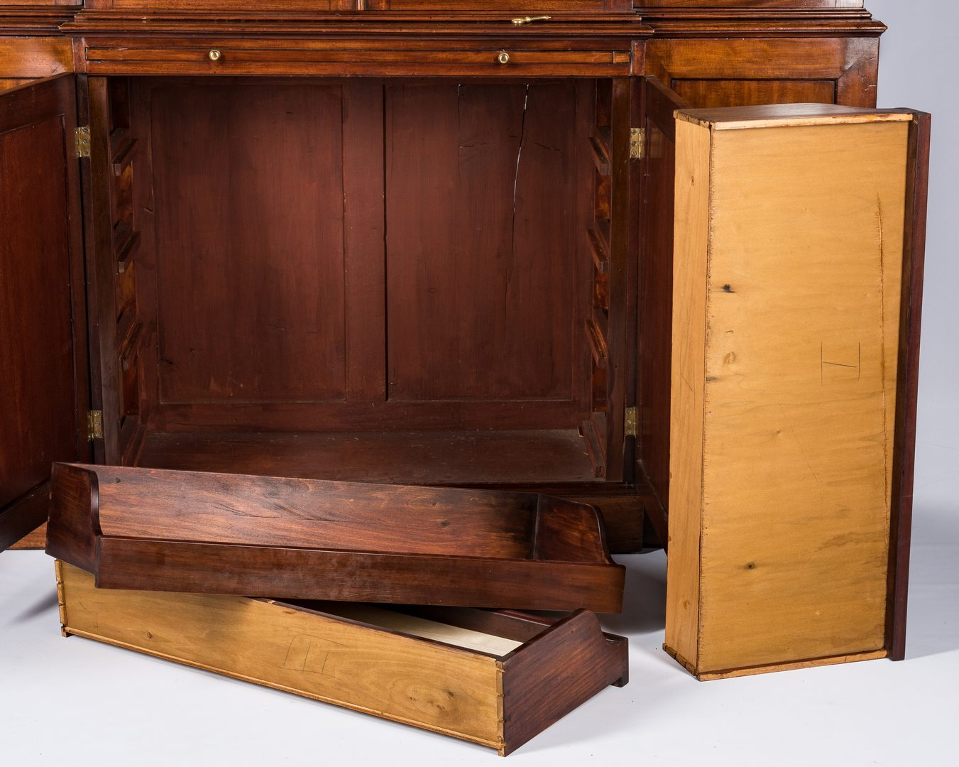 Lot 435: Diminutive Regency Breakfront Bookcase