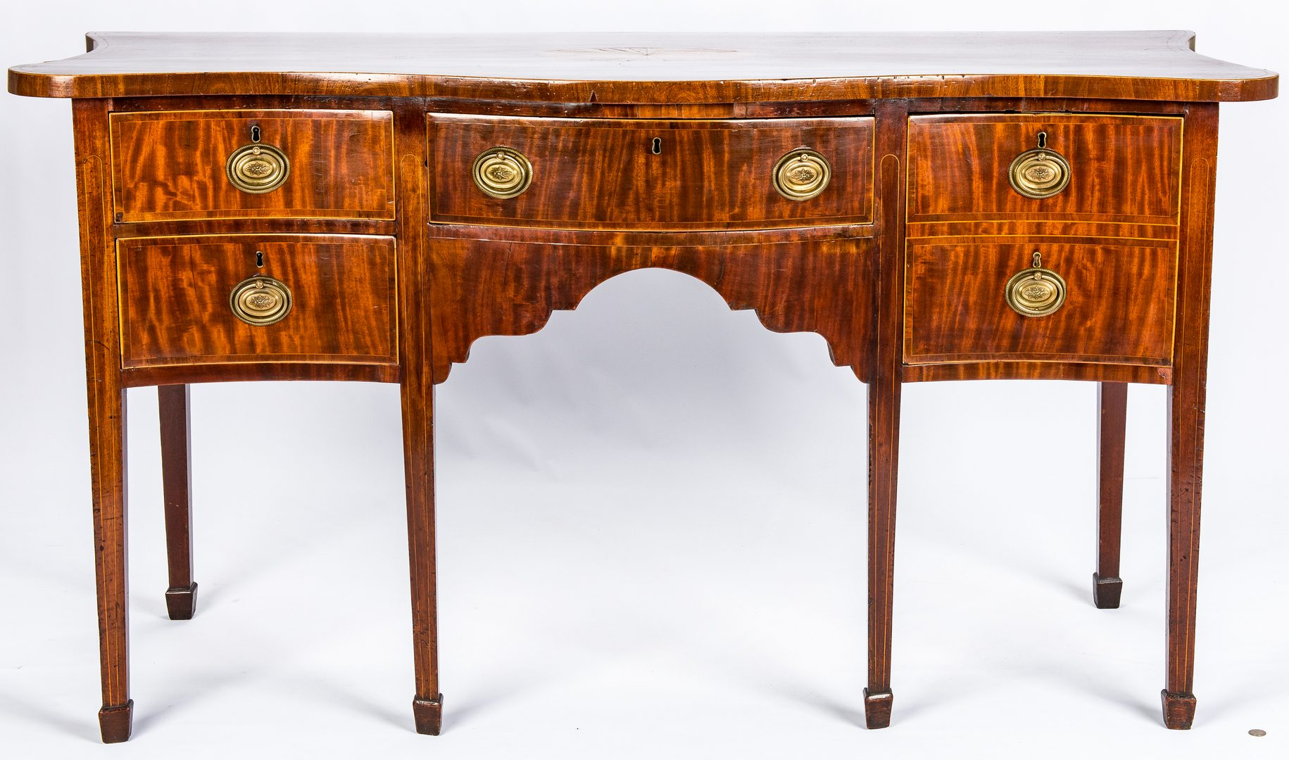 Lot 436: George III Style Inlaid Sideboard