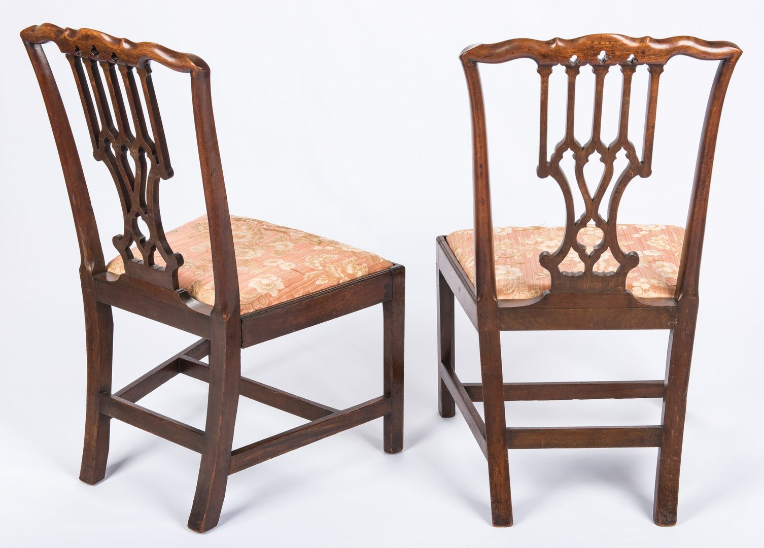 Lot 440: Pair English Chippendale Side Chairs