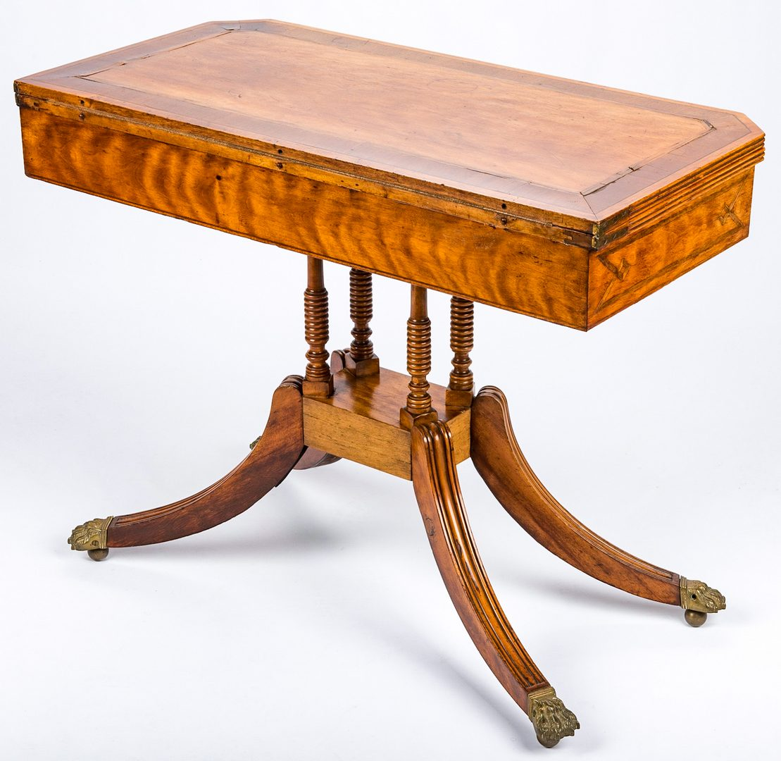 Lot 444: Regency Inlaid Card Table