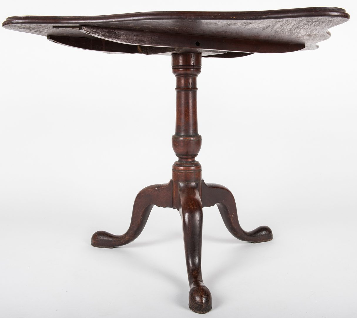 Lot 445: Queen Anne Square Tilt-top Table