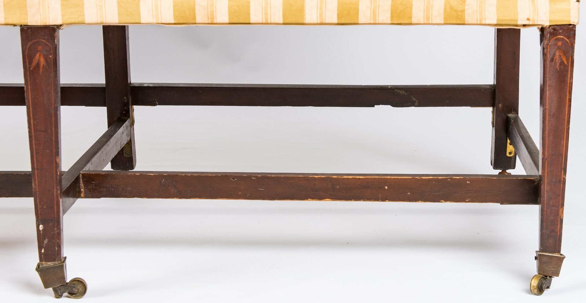 Lot 446:  Federal Inlaid Camel Back Sofa