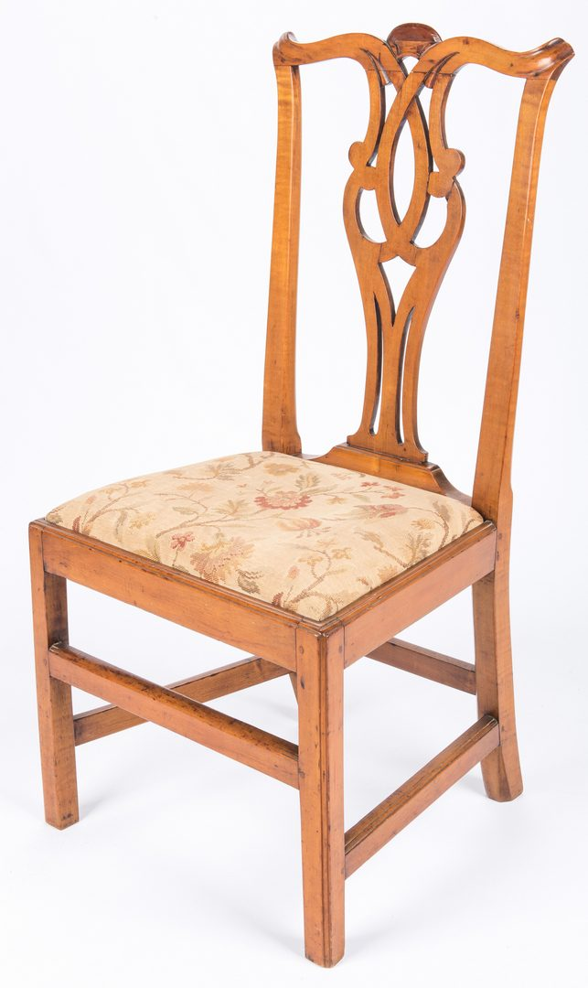 Lot 447: Two American Chippendale Side Chairs, 18th c.