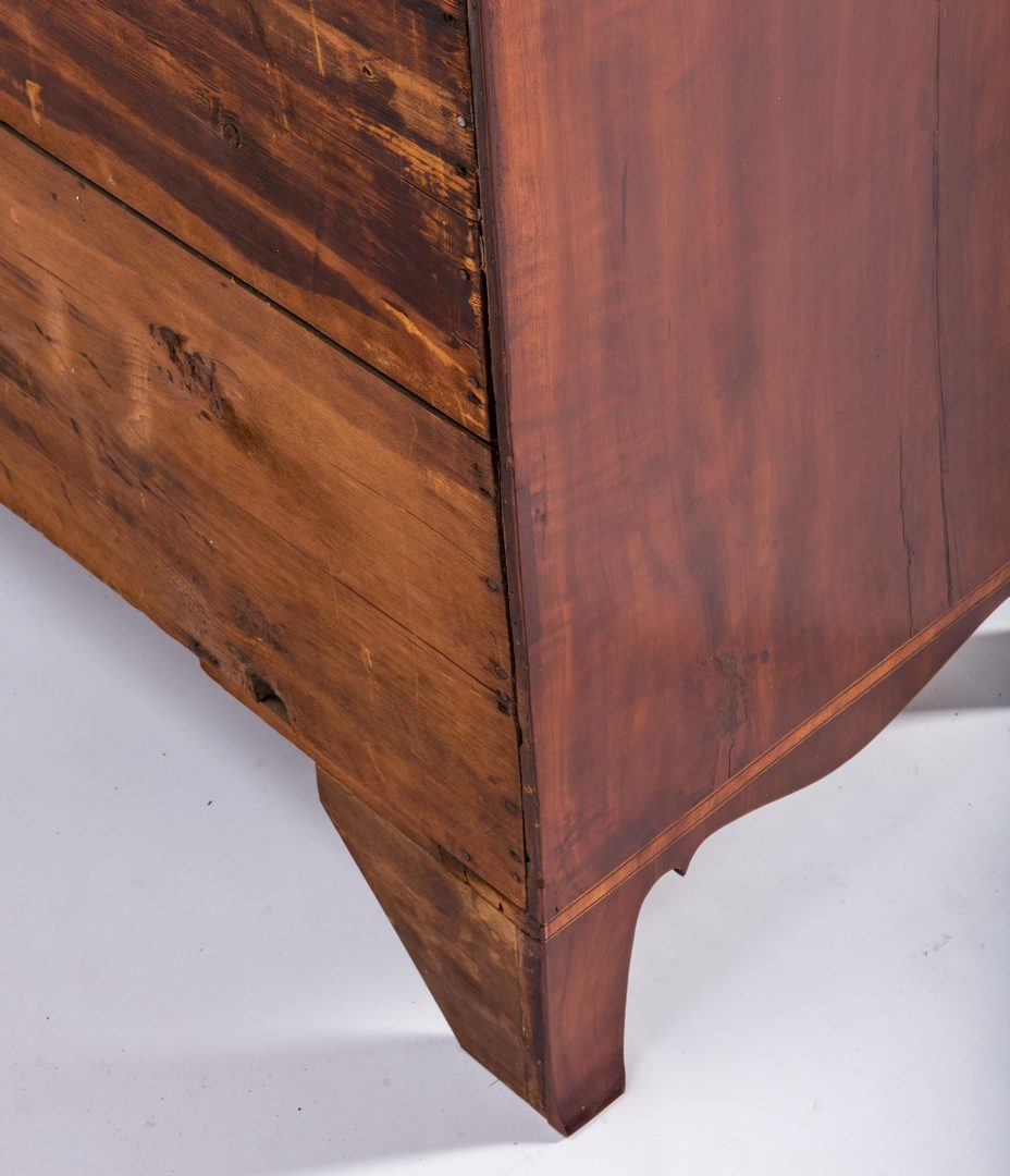 Lot 448: PA Cherry Federal Desk and Bookcase