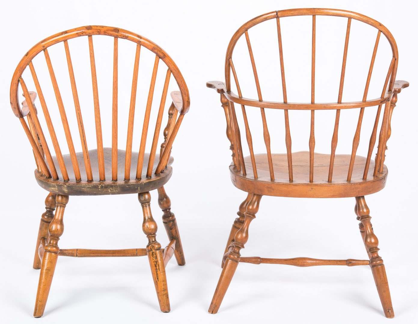 Lot 449: 3 New England Windsor Chairs