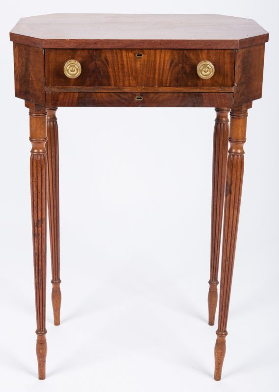 Lot 450: Sheraton Sewing Table