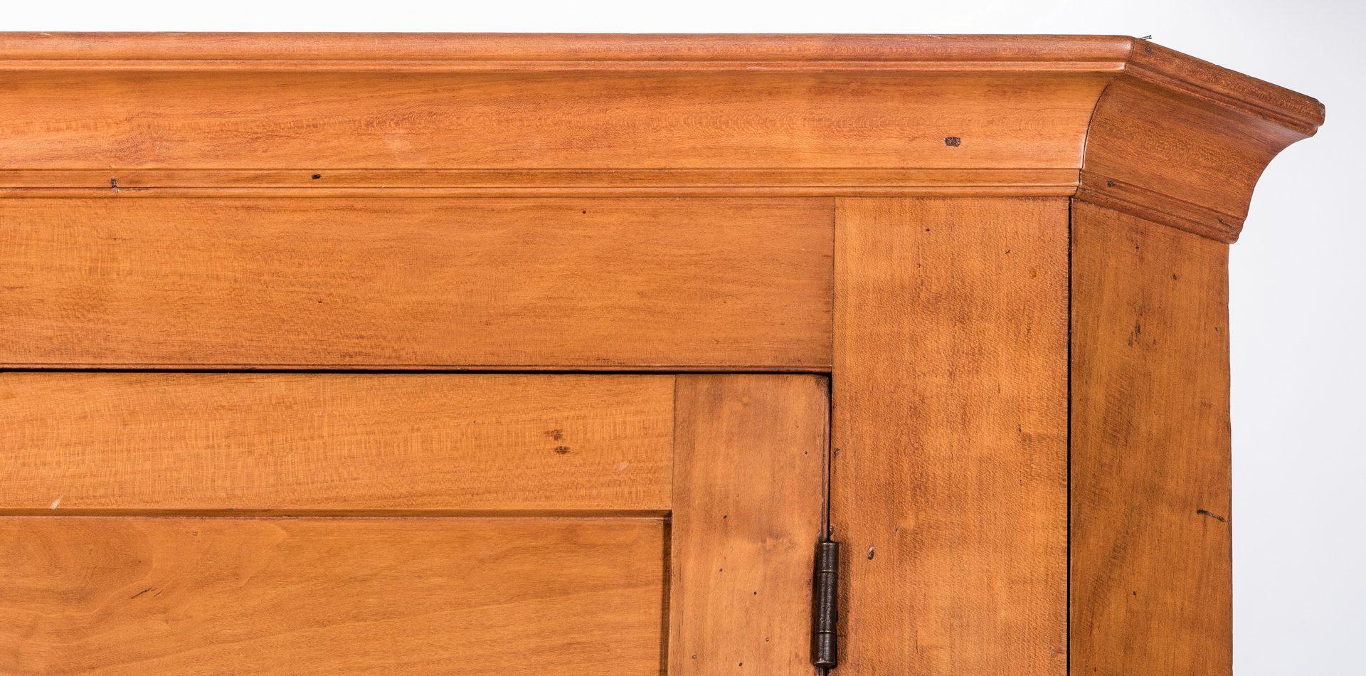 Lot 454: Middle TN Cherry Corner Cupboard