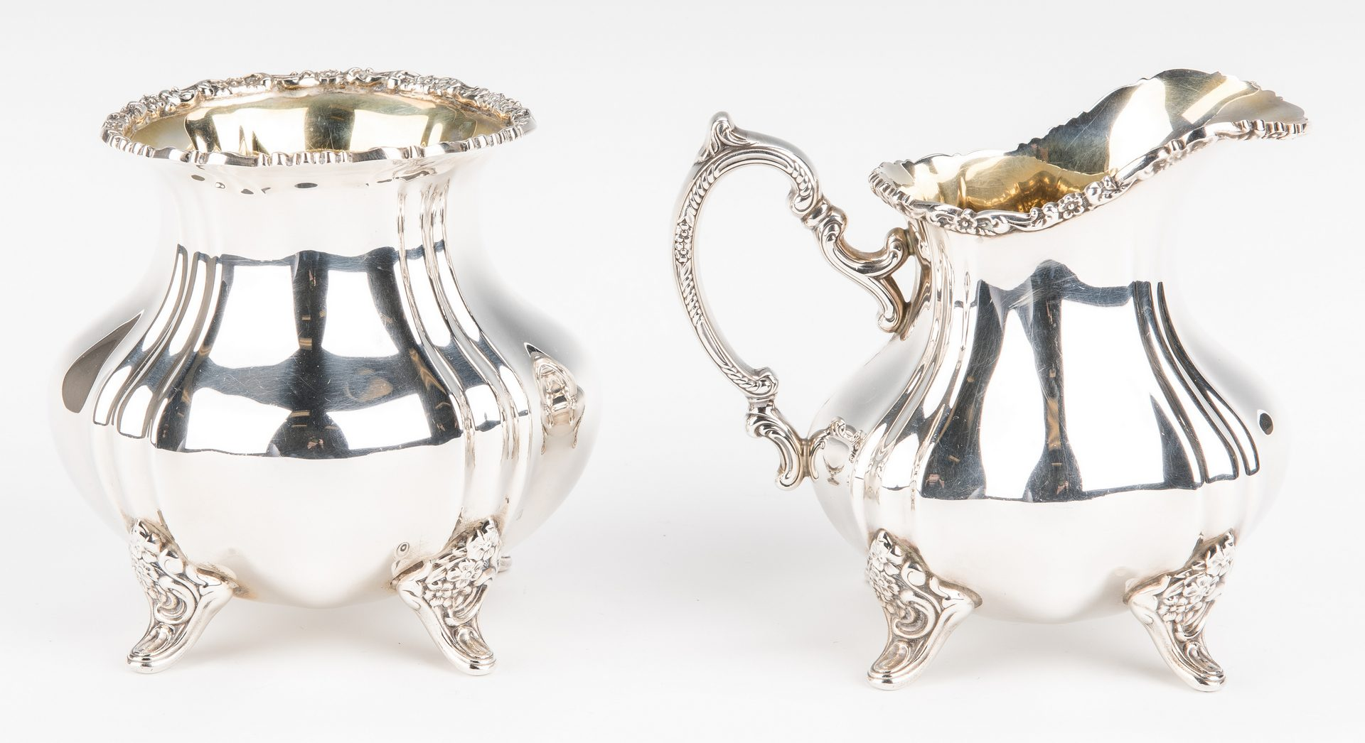 Lot 45: Poole Sterling Silver Tea Service, 5 pcs.