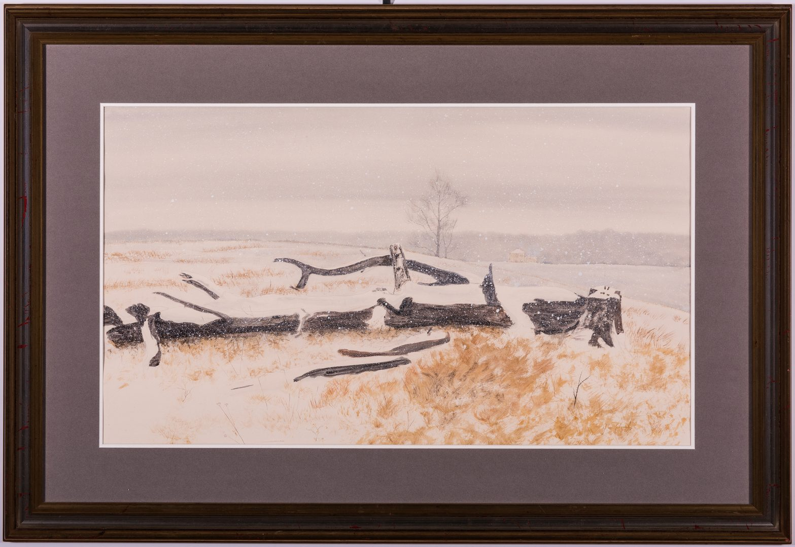 Lot 460: Jeff W. Chumley Watercolor on Paper Snow Scene
