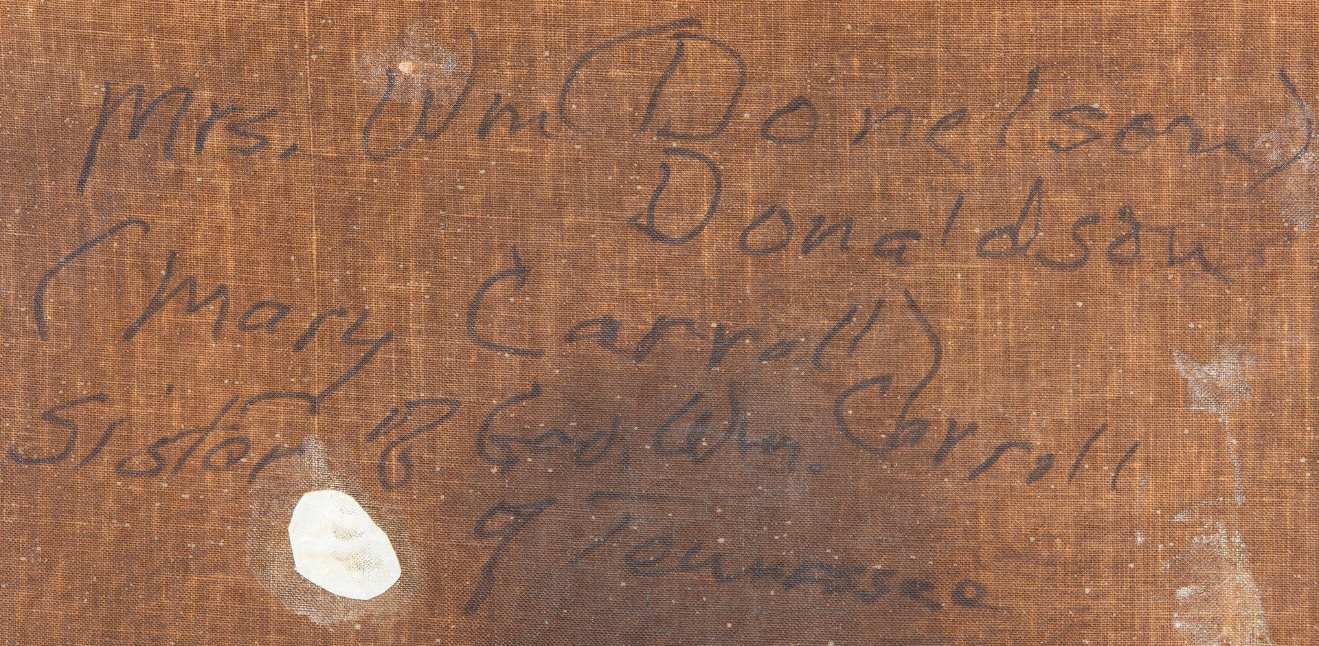 Lot 462: George Dury O/C, Mary Carroll Donelson, plus Wm. Carroll Signed