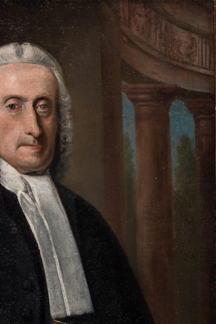 Lot 463: 18th C. American Portrait of a Clergyman