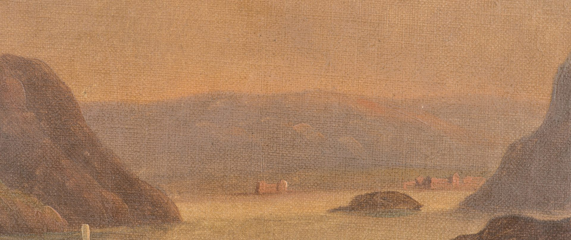 Lot 466: Hudson River landscape, manner of De Grailly