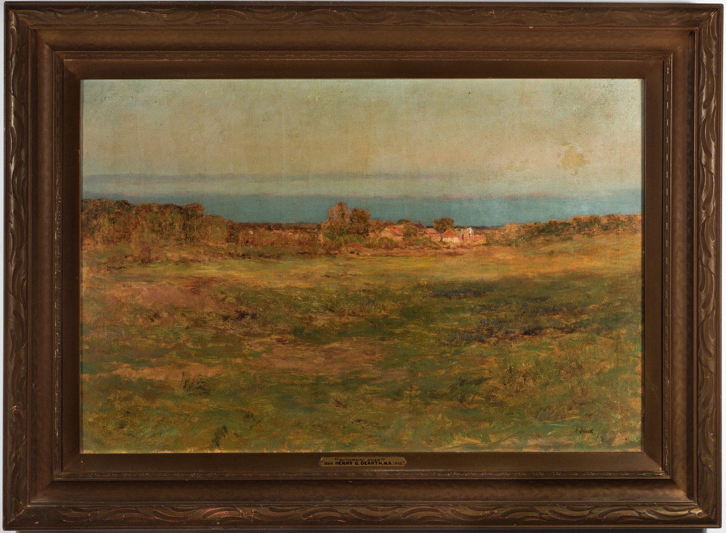 "Lot 468: Henry Dearth, O/C, ""Autumnal Hues"""