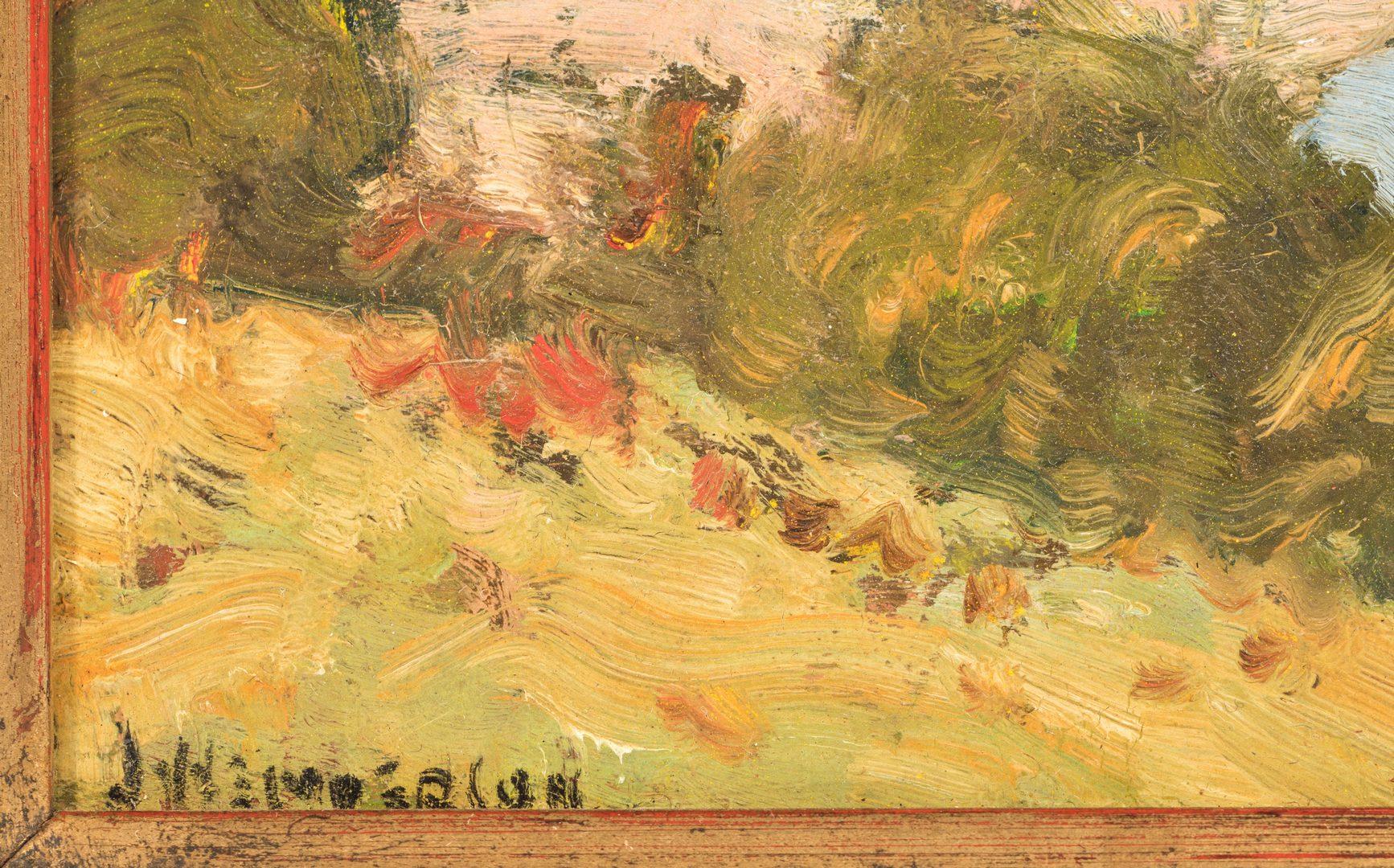 Lot 469: James Henderson Oil on Board Landscape