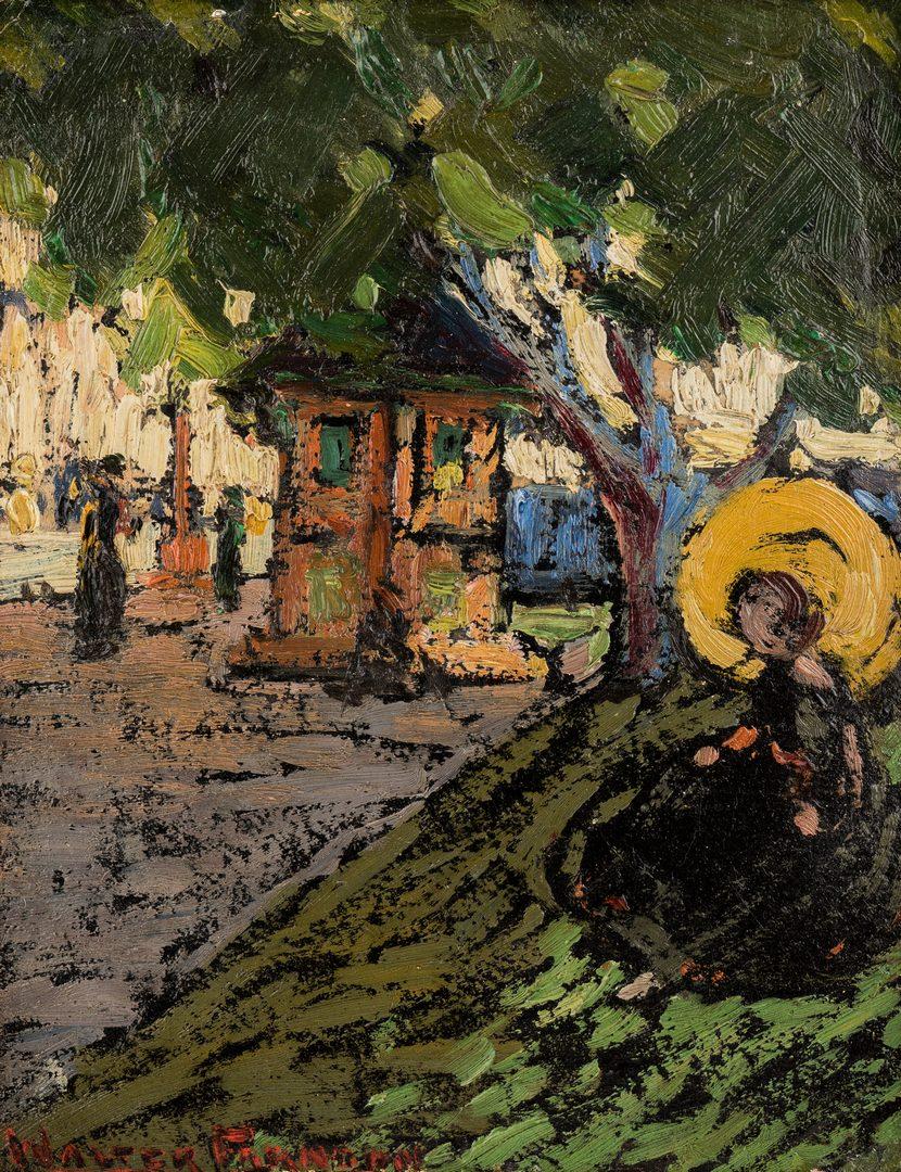 """Lot 473: Walter Farndon oil, """"Street Wait"""""""