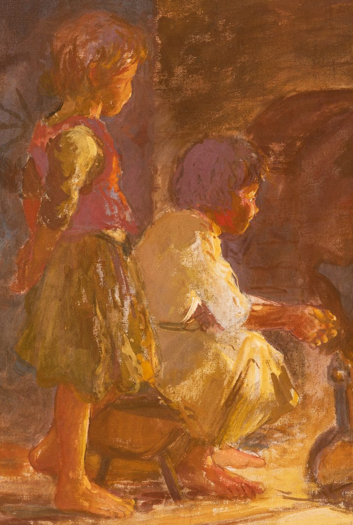 Lot 474: Adam Emory Albright, O/C, Two Children