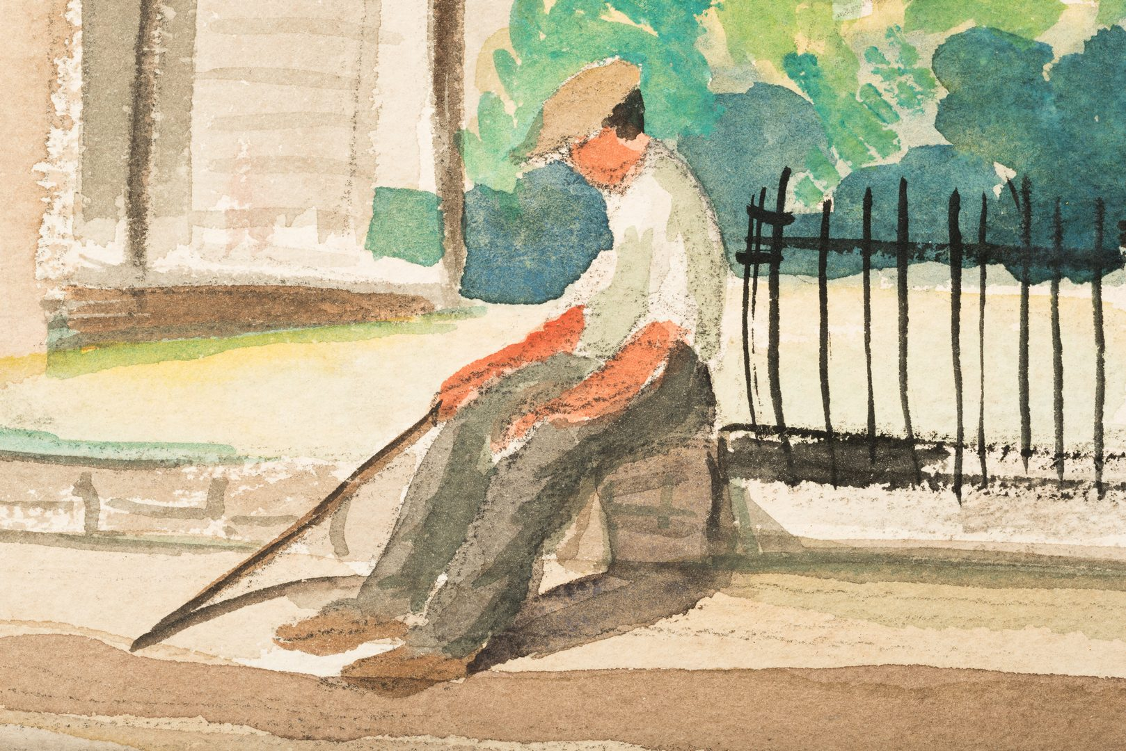 Lot 478: 2 Harry Shaw Watercolor, MA Village Scenes