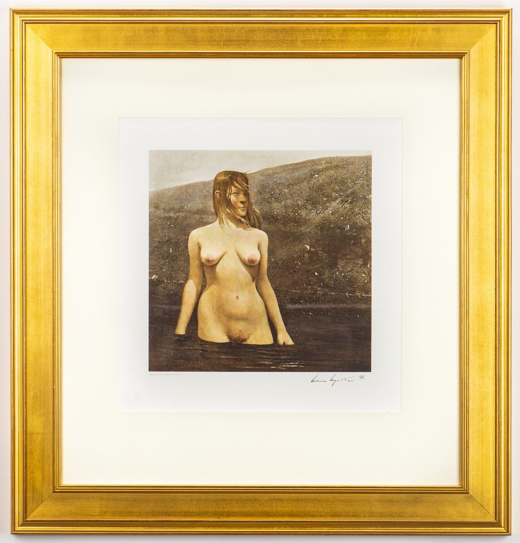 Lot 483: Andrew Wyeth Signed Collotype, Seabed