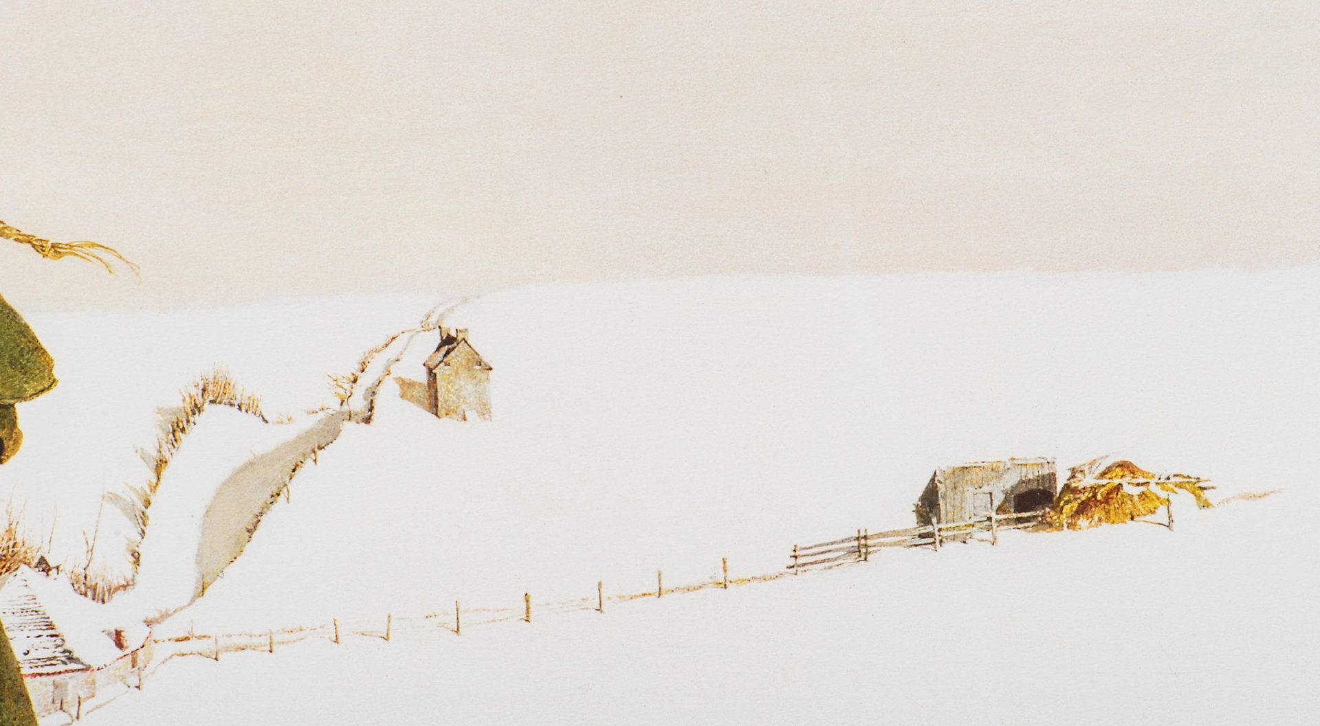 Lot 484: Andrew Wyeth Signed Collotype, Snow Hill