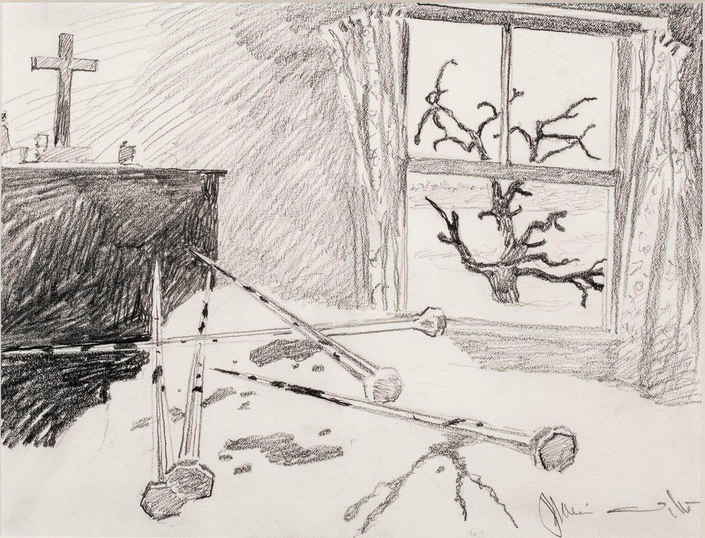"Lot 486: Jamie Wyeth Signed Drawing from Stephen King's ""Kingdom Hospital"""
