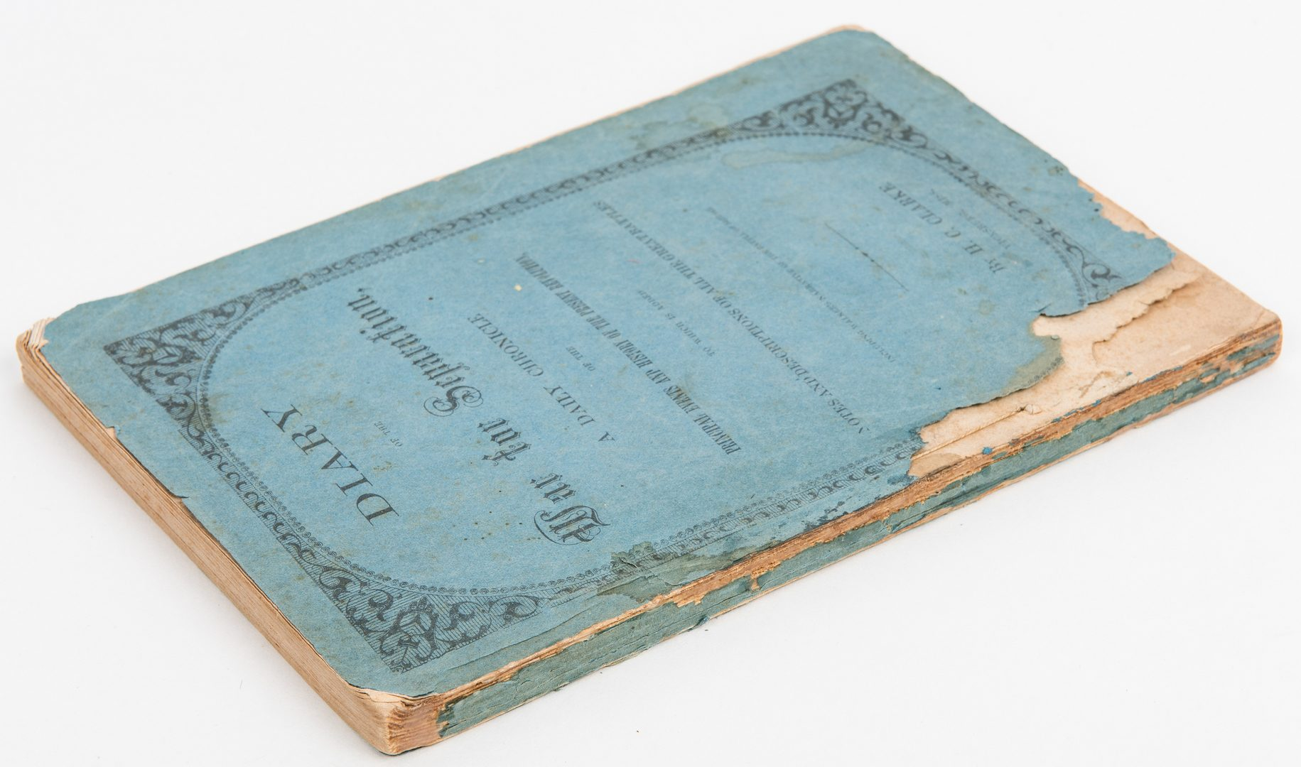 Lot 490: H.C. Clarke, Diary of the War for Separation, 1862