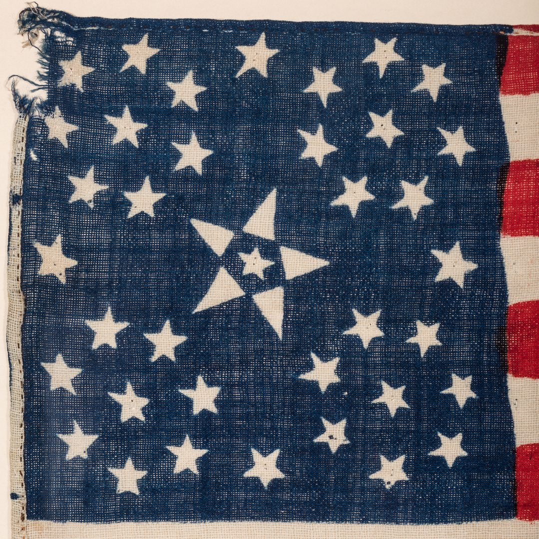 Lot 491: Rare 38 Floral Star American Flag