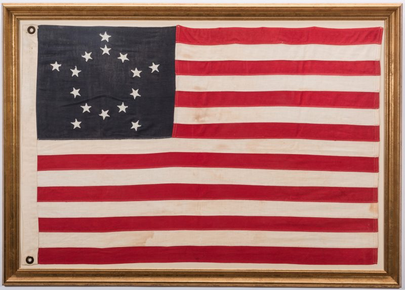 Lot 493: 15 Star Kentucky Statehood Commemoration Flag