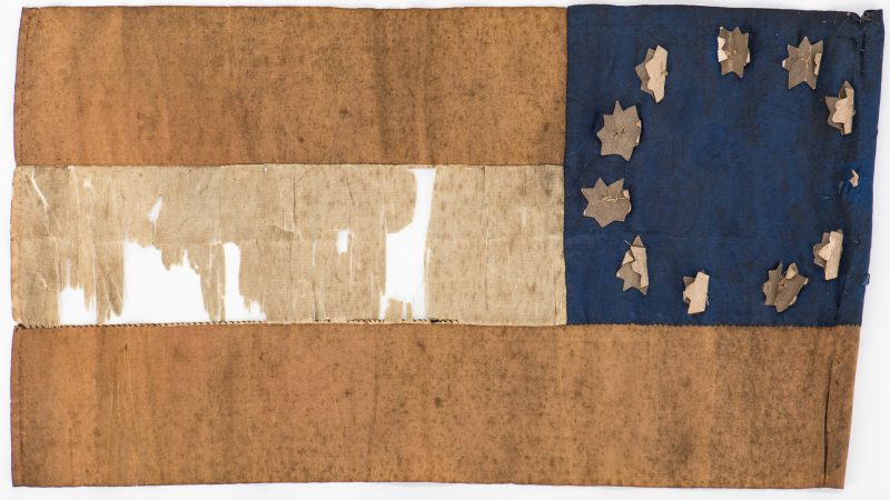 Lot 496: Civil War era Confederate Parade Flag