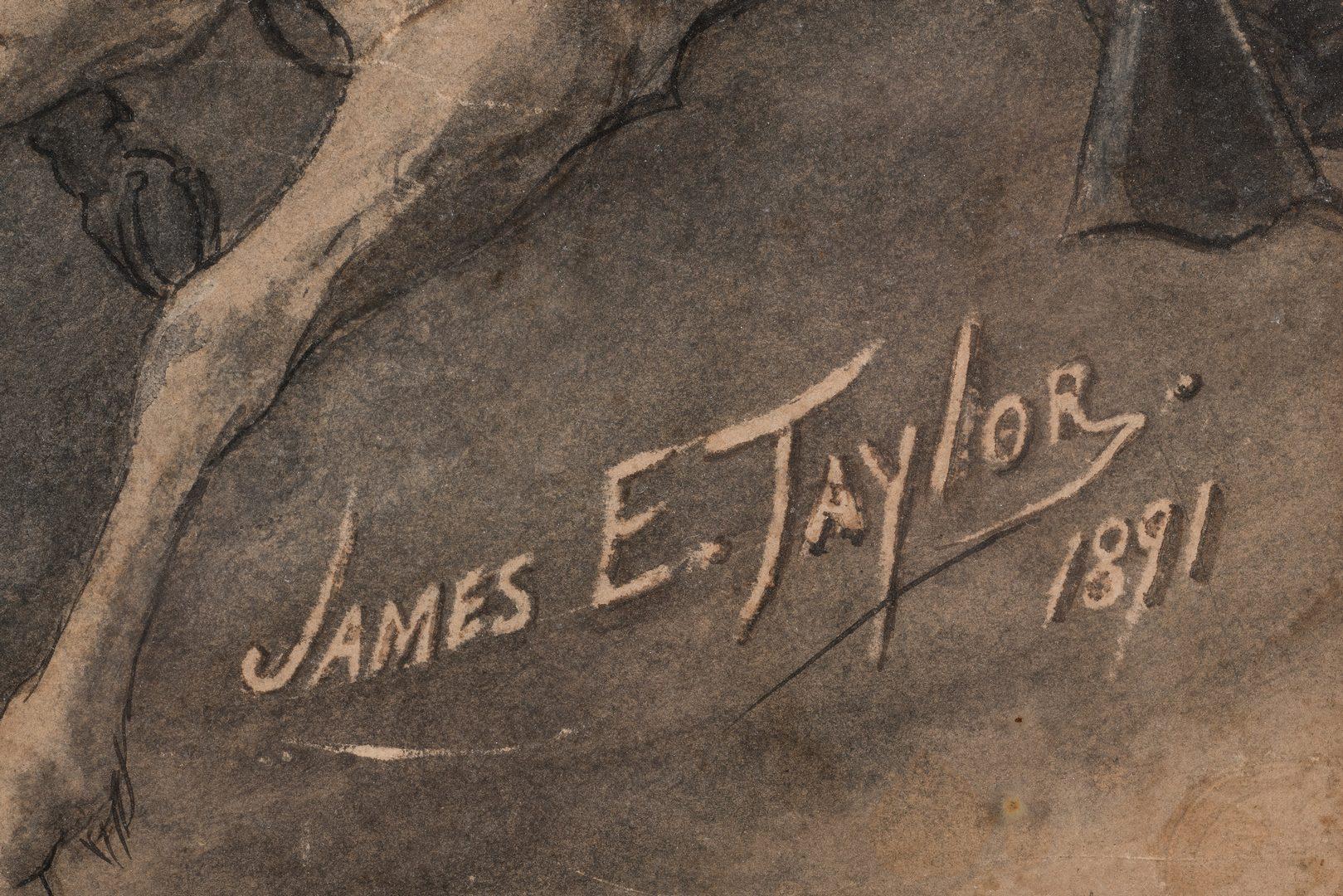 Lot 497: VA Watercolor: CSA Charge at Trevilian Station by James E. Taylor