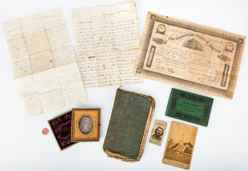 Lot 504: 8 Civil War items, inc. L. M. Coleman letters