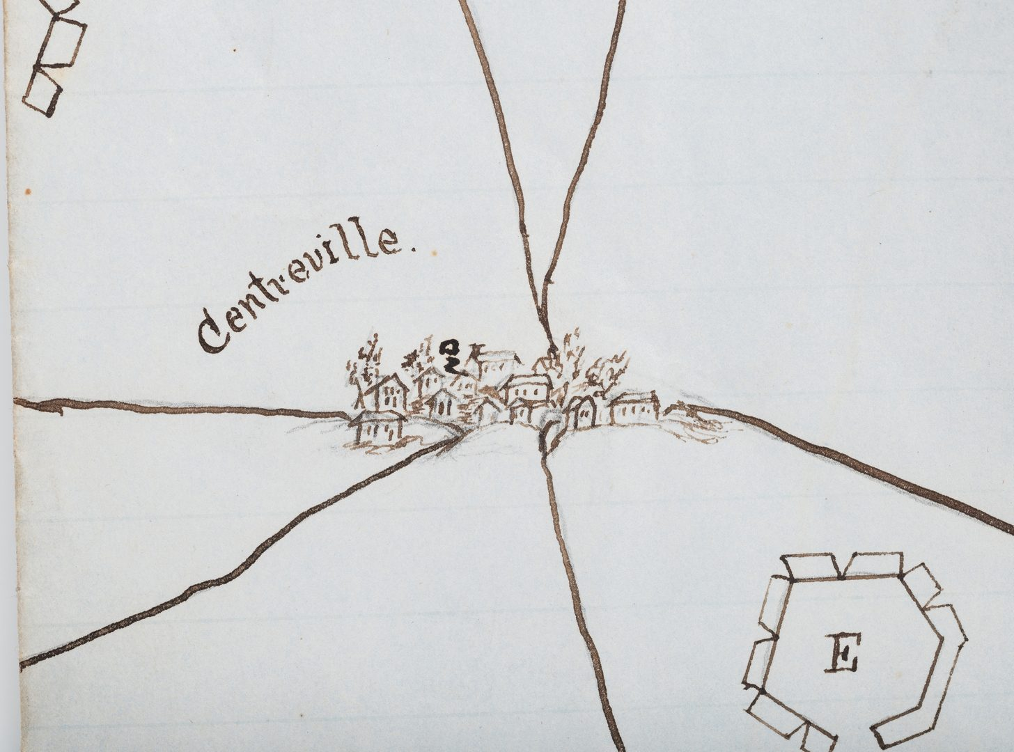 Lot 505: Civil War CSA Pre Battle of Bull Run Artillery Position Map