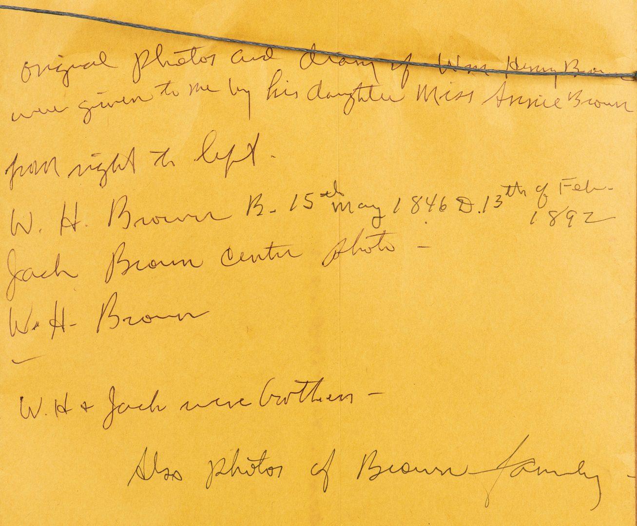 Lot 513: Archive: Morgan's Raiders, Brown Family of Gallatin, TN