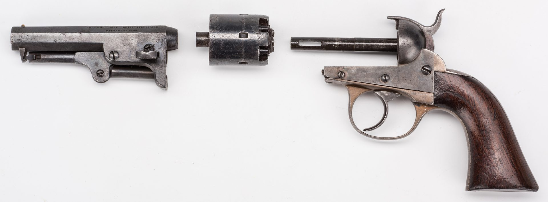 Lot 523: J.M. Cooper Double Action Pocket Revolver, .31 Cal.