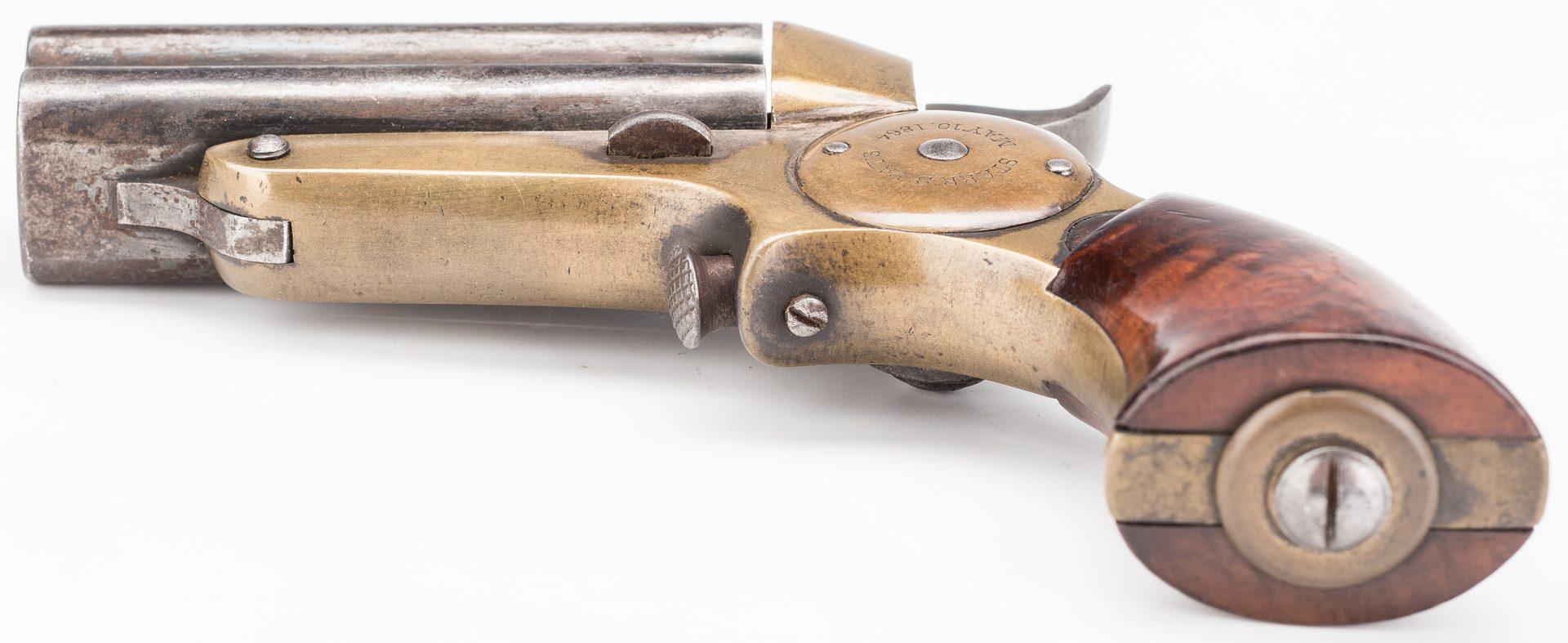 Lot 524: Starr Four Barrel Pepperbox Pistol, .32 Rimfire Cal.