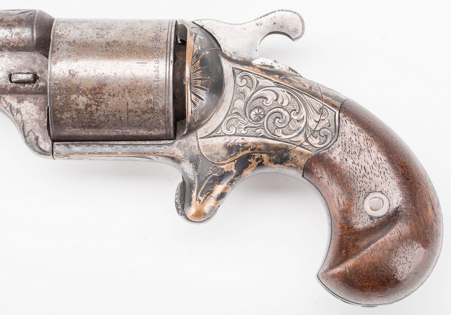 """Lot 525: Moores """"Teat-Fire"""" Pocket Revolver, .32 Cal., w/ 12 Cartidges"""