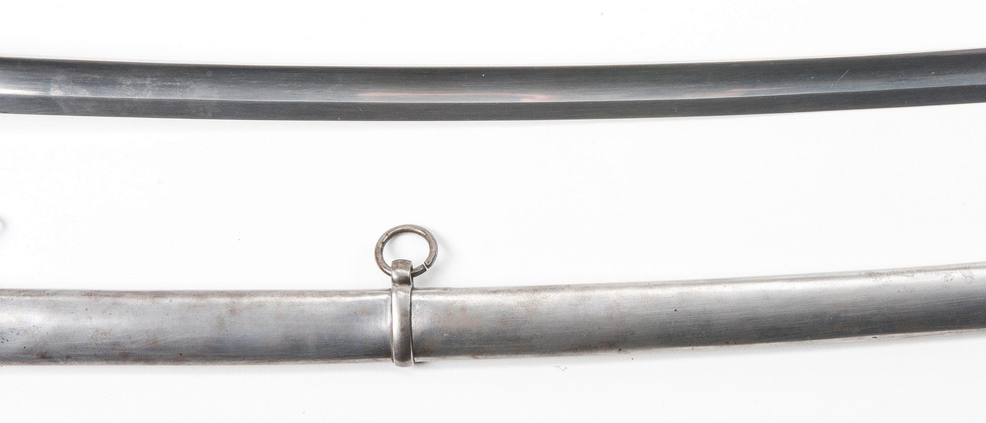 Lot 528: Civil War W. Clauber Model 1840 Sword w/ Scabbard