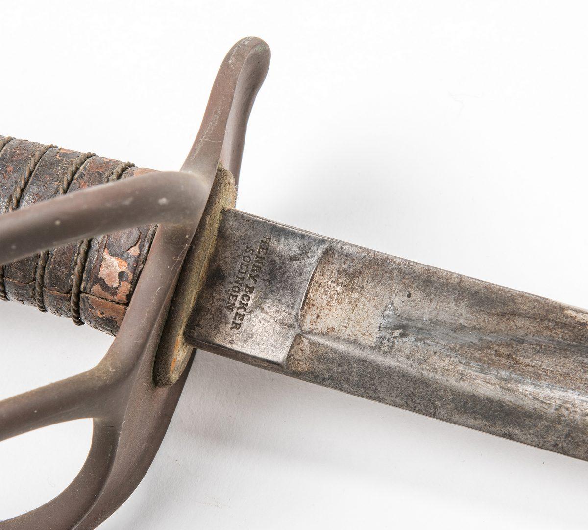 Lot 529: Civil War H. Boker Model 1860 Sword plus later Sash
