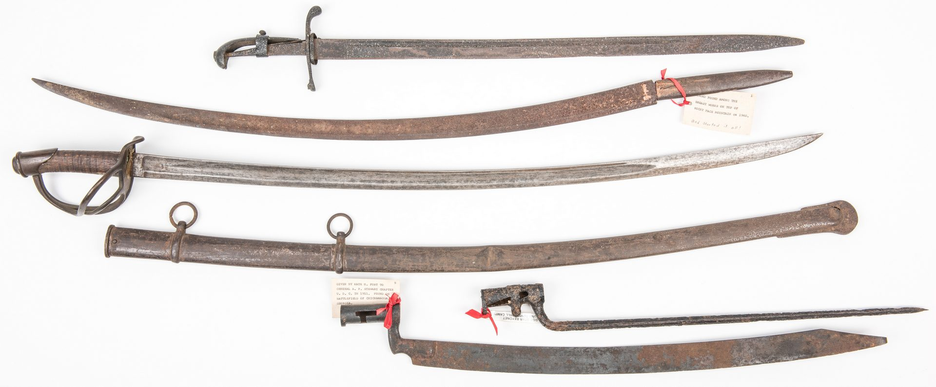 Lot 530: 5 Civil War Edged Weapons, inc. Wristbreaker, Some Relic