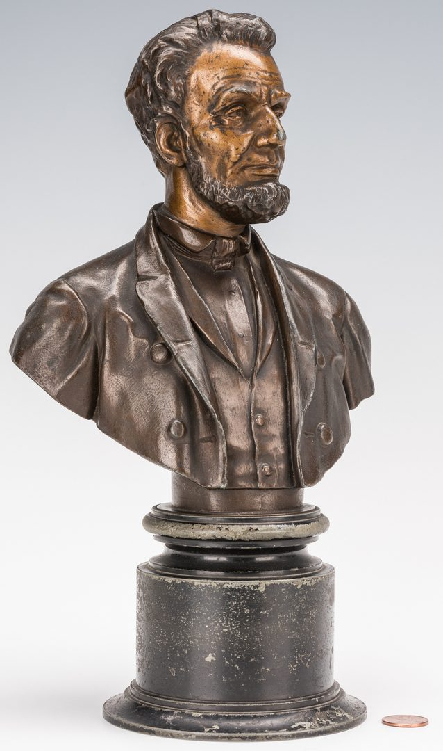 Lot 533: J. Bailly 1865 Bust of President Lincoln