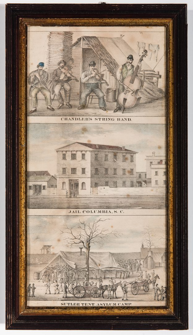 Lot 535: 4 Civil War Prints inc. Southern Prisons by Sachse