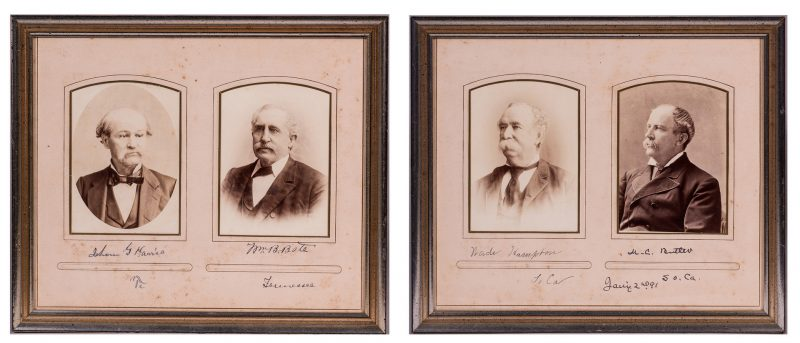 Lot 537: 4 Framed CDVs: CSA Genls, TN Govs