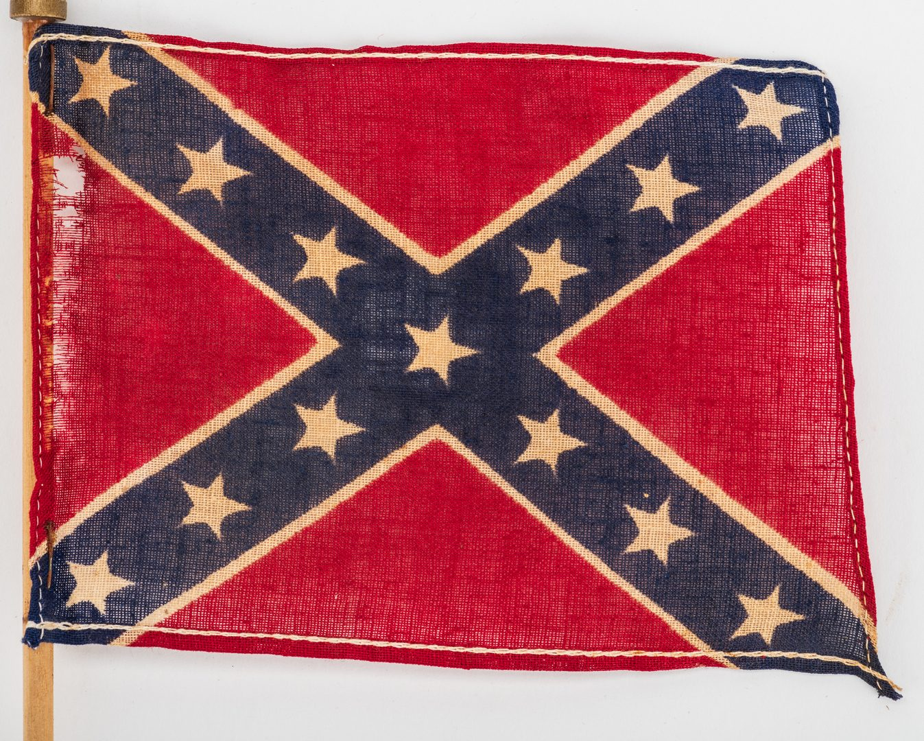 Lot 546: 6 Confederate Items, inc. Flags and Newspaper