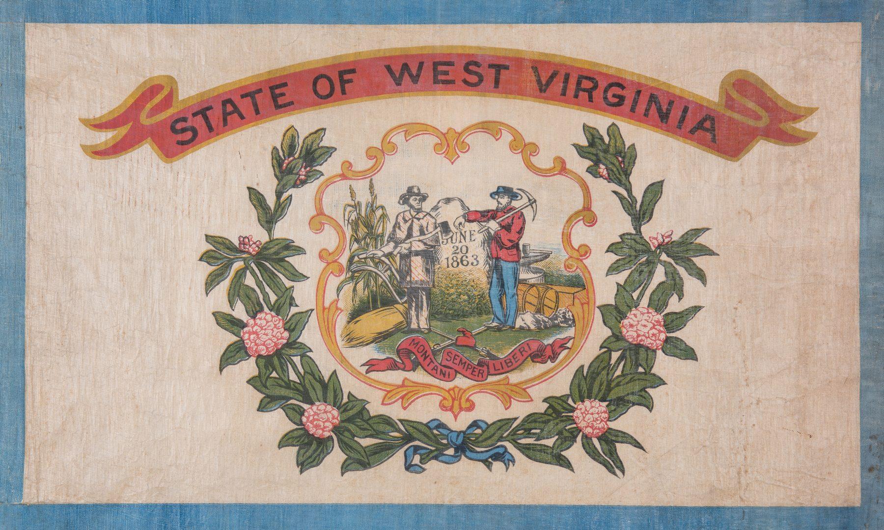 Lot 549: West Virginia Printed Flag