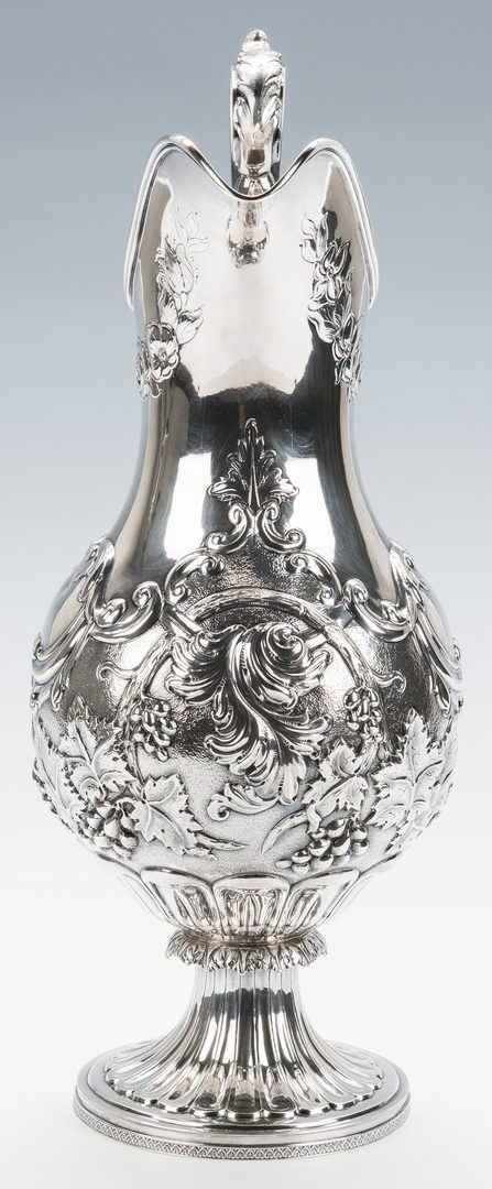 Lot 54: Large Coin Silver Water Pitcher