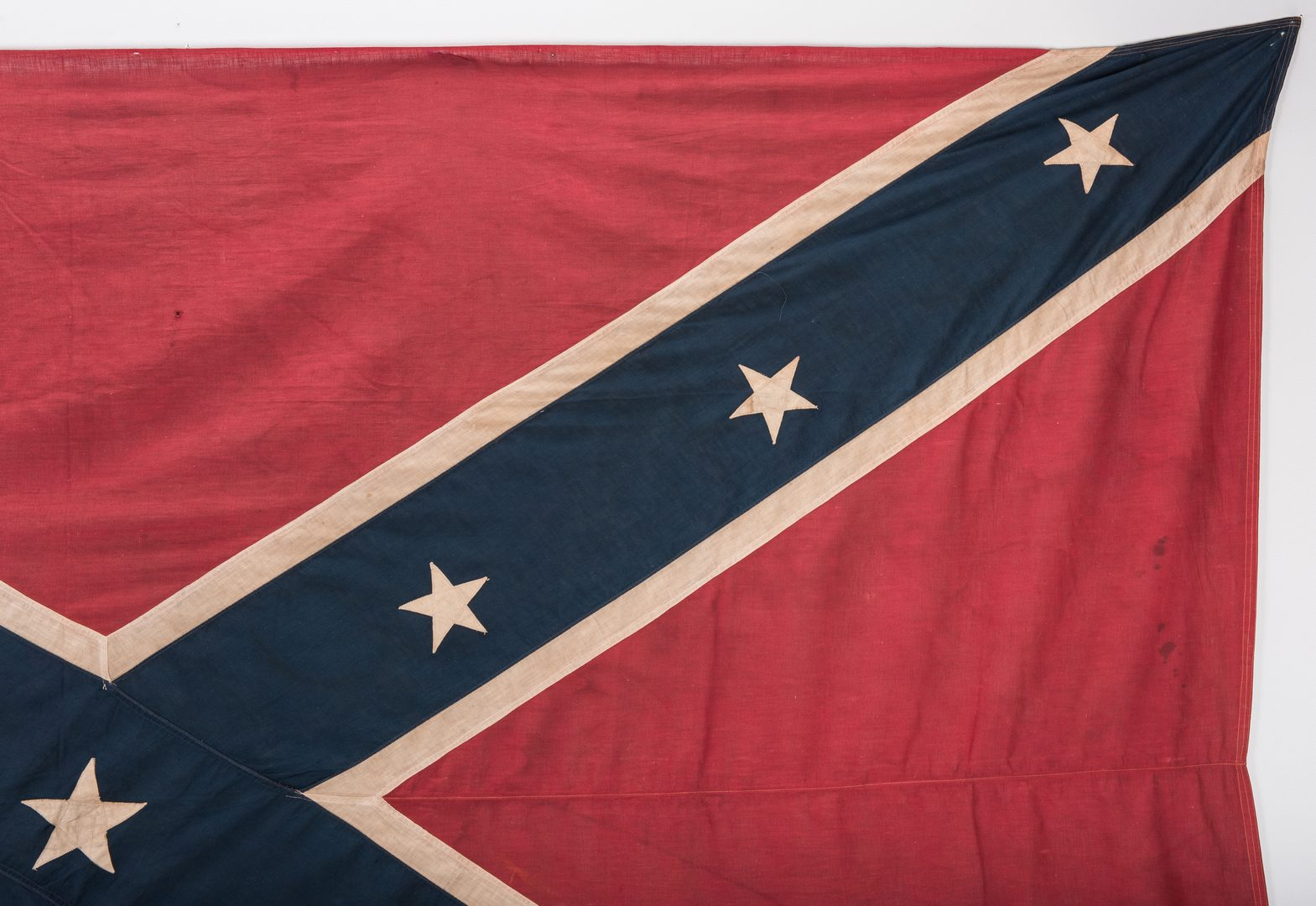 Lot 550: 2 Large Confederate Reunion Flags/Banners